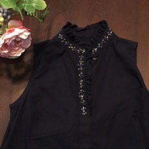 Embellished J. Crew blouse- 00